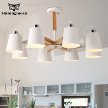 Modern Led Ceiling Lights Nordic Iron Black Ceiling Lamp Living Room Ceiling Lighting Kitchen Solid Wood Ceiling Light Lustre