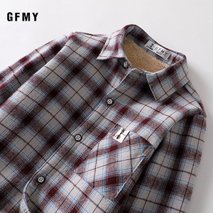 Image 4 - GFMY 2020 summer 100% Cotton Full Sleeve Fashion Plaid Boys  Plus velvet Shirt 3T 12T Casual Big Kid Clothes Can Be a Coat