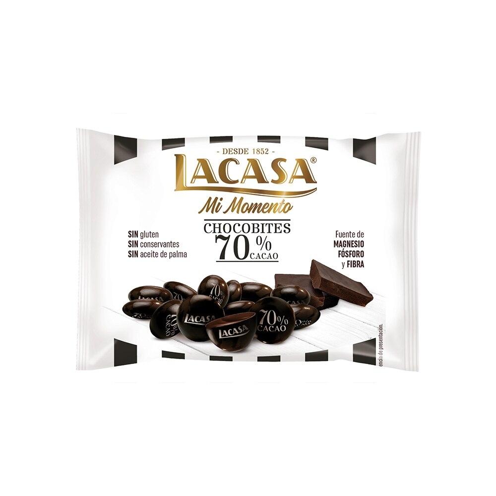 Lacasa Chocobites 70% cocoa · 40g.