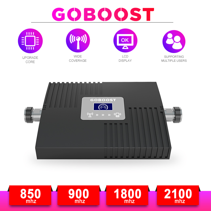 GSM Repeater LTE 4G DCS Cellular Amplifier 2G 3G 4G Cellular Signal Amplifier GSM 900 1800 2100 Cell Phones Signal Booster -