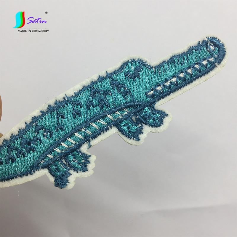 Одежда, шляпа, украшение для обуви, милый аксессуар для ремонта, белый, синий, зеленый, с открытым ртом, с изображением животных, с клеем сзади S0858L