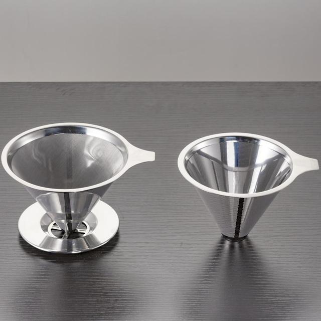 400ml Glass Coffee Pour Over Pot with Stainless Steel Filter 5