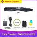 SUNLU Волшебная 3D Ручка SL-300  черные цветные 3d-ручки с поддержкой PLA/ABS нити 1 75 мм для творчества и в качестве подарка