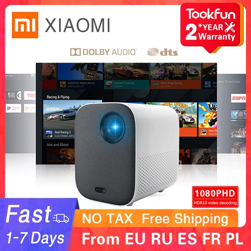 Versão global xiaomi juventude edição projetor 1080p hdr10 android tv 9.0 auto-foco dolby áudio google assistente de cinema em casa-0