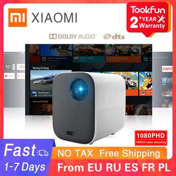 Versão global xiaomi juventude edição projetor 1080p hdr10 android tv 9.0 auto-foco dolby áudio google assistente de cinema em casa