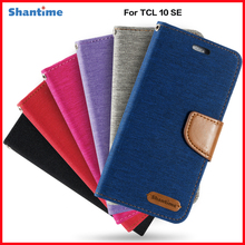 PU Leather Flip Case For TCL 10 SE Business Case For TCL 10 SE Card Holder Silicone Photo Frame Case Wallet Cover