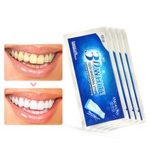 1pcs -3D White Gel Teeth Whitening Strips Oral Hygiene Care Double Elastic Tooth Whitening Strips Dental Tools(China)