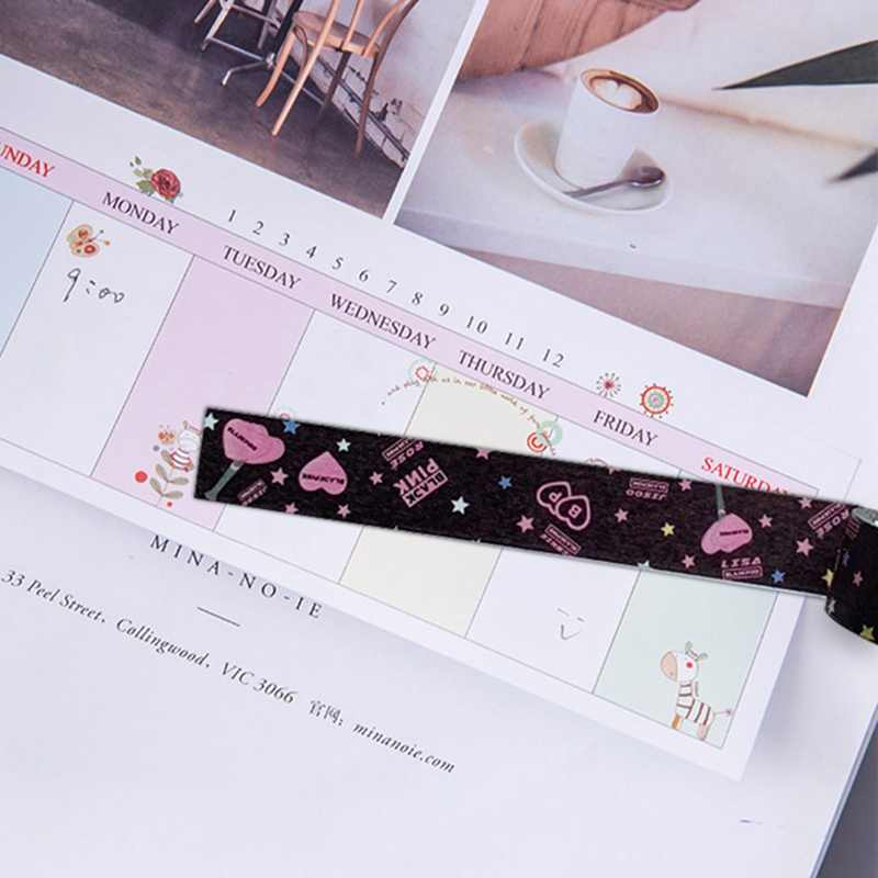 1Pc Fashion KPOP BLACKPINK Papier Decoratieve Maken Washi Tapes DIY Dagboek Scrapbooking Briefpapier Label Sticker Fans Gift