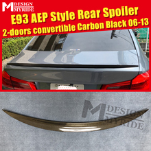 E93 Spoiler Carbon Tail Wings Fits For BMW 3-Series 325i 328i 330i 335i 2-door Convertible AEP Style Black 06-13