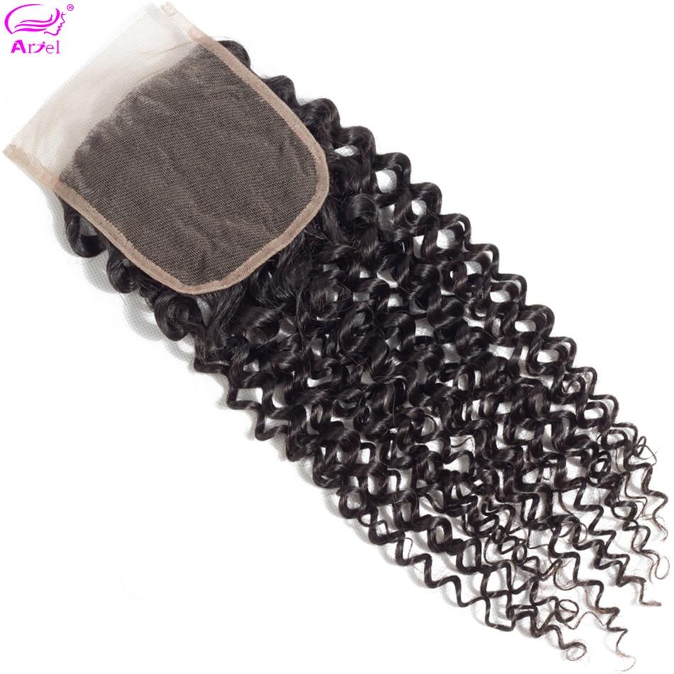 Ariel Lace Closure Human-Hair Swiss Kinky Non-Remy 4x4