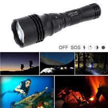 SKYWOLFEYE Waterproof TLY-34 T6 LED Diving Flashlight Torch Scuba Light Lamp