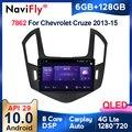 6 + 128G 1280*720 QLED экран BT5.0 WIFI Автомобильный мультимедийный плеер для Chevrolet Cruze J300 J308 2013-2015 GPS головное устройство SWC 4GLTE