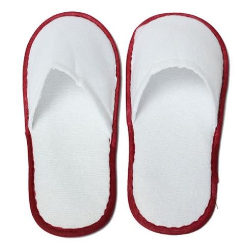 20 pares de towelling branco hotel chinelos descartaveis terry spa sapatos de hospedes branco