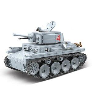Image 2 - Nuevo Modelo de 535 Uds. De tanque de bloques de construcción militar WW2, militar, militar, soldado, armas, Juguetes