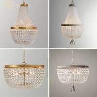 Vintage LED Chandeliers Lighting Crystal Modern Retro Pendant Hanging Lamp for Kitchen Bedroom Living Room Indoor Lights Lustre