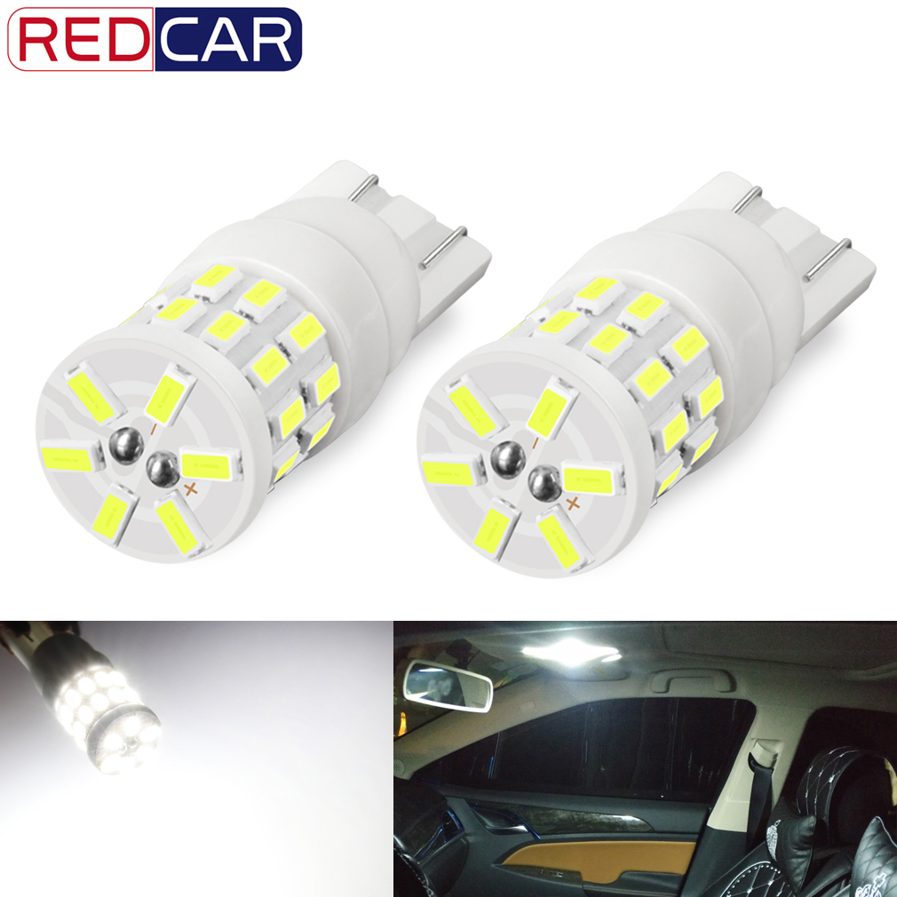 2pcs <font><b>T10</b></font> W5W Led Bulb WY5W 501 2825 194 168 Ceramic Bulb <font><b>3014</b></font> <font><b>30SMD</b></font> Auto Lamps Super Bright LED Car Reading Dome Lights 6000K image