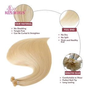Image 3 - K.S WIGS 16 20 24 28 Straight Remy Nail U Tip Human Hair Extensions Pre Bonded Keratin Capsules Fusion Human Hair