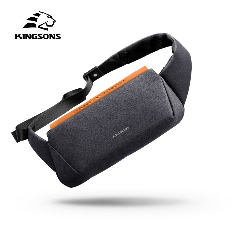 Kingsons маленькая Высококачественная сумка на одно плечо, мужские сумки-мессенджеры, мужские водонепроницаемые сумки на лямках, нагрудные сум...