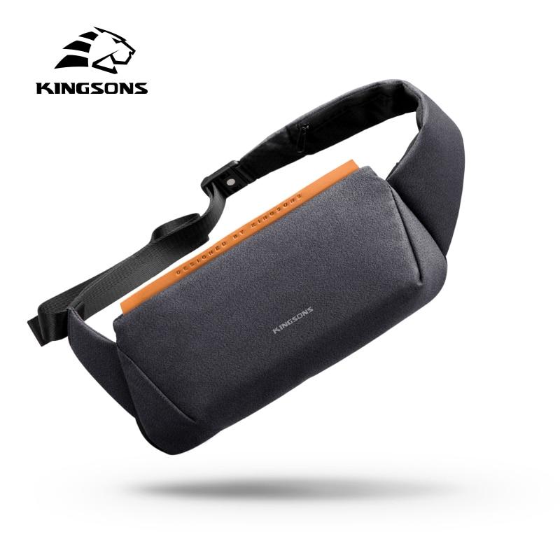 Kingsons Small High Quality One Shoulder Bag Men Messenger Bags Male Waterproof Sling Chest Bagpack Bag Boy Walking Cross Body