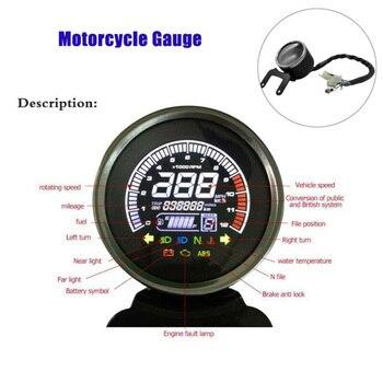 Digital Speedometer Tachometer Meter Gauge White Light Accessories 12V