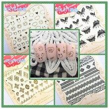 3D Маникюр цветок переводные наклейки на ногти с резиновой наклейкой для ногтей DTL160-171