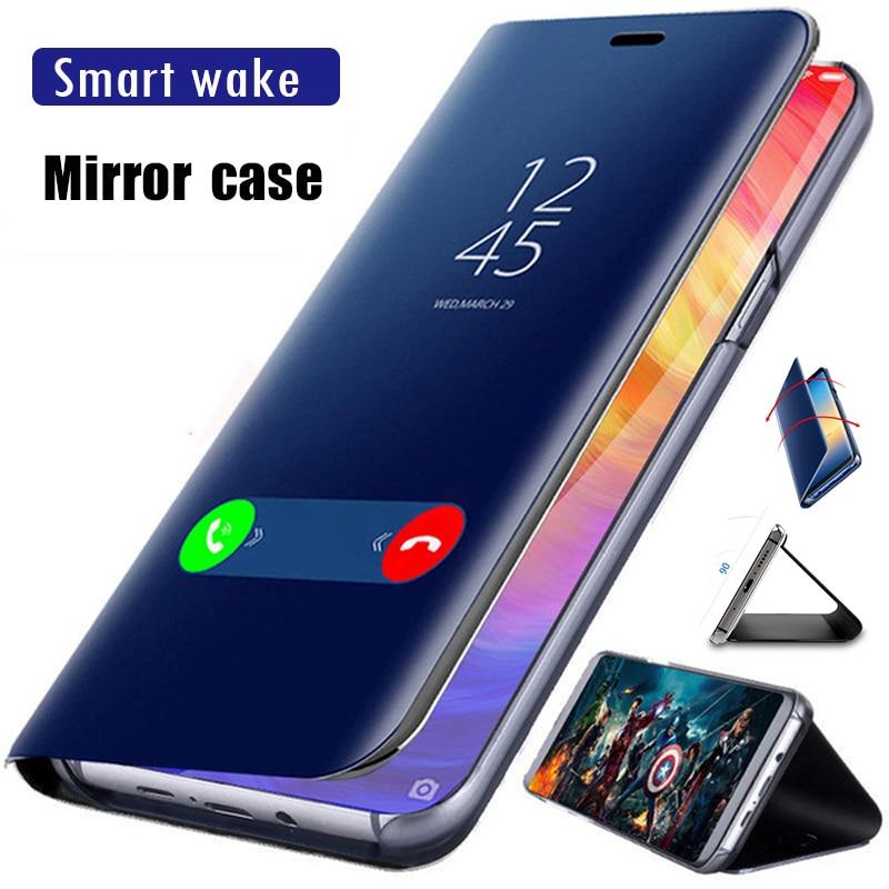 Flip-Case Mirror 3-Cases-Cover Pocophone F1 Xiaomi Mi CC9E 8-Lite 5X for 9T 8-lite/Pro/5x5c/6-6x-case