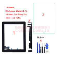 1pcs digitador da tela de toque sensor painel vidro frontal para ipad 2 2nd gen 2011 a1395 a1396 a1397 reparação substituição