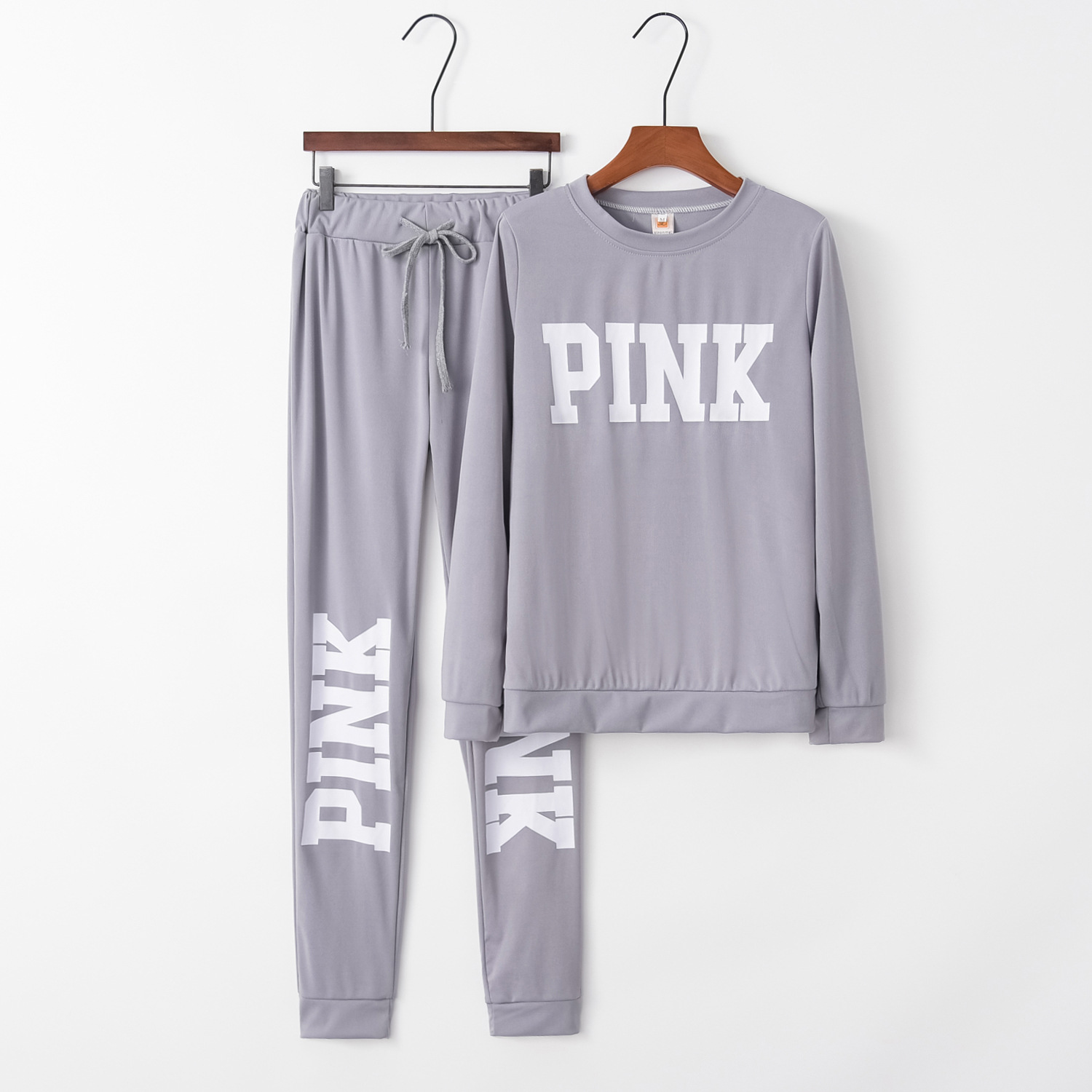 Printed Pink Fashion 2020 New Design Fashion Hot Sale Suit Set Women Tracksuit Two-piece Style Outfit Sweatshirt Sport Wear