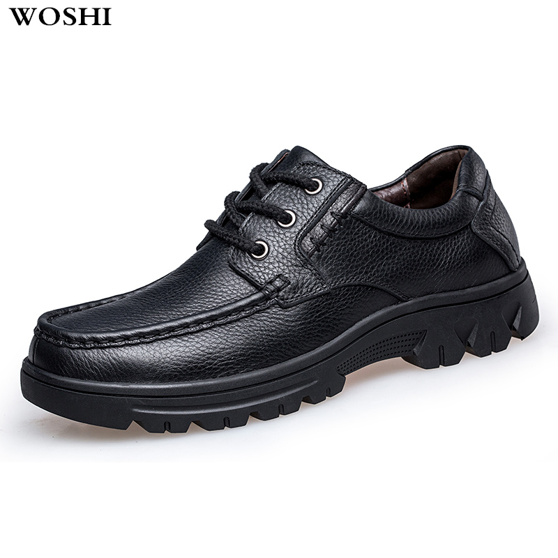 Big Size 50 Genuine Leather Men's Business Shoes Lace Up Fashion Casual Handmade Sewing Men Formal Flats Male Oxfords Shoes O4
