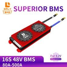 Daly 3.2v lifepo4 16s 48v 80a 100a 120a 500a 18650 bms placa de proteção da bateria com módulo equilibrado da bateria de lítio lithiumion