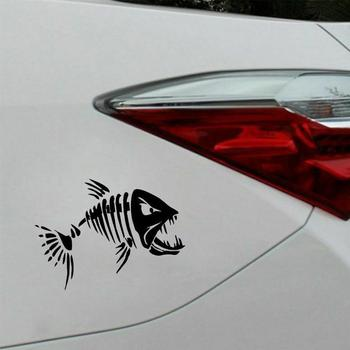 1Pc Skeleton Fish Boats Stickers PET reflective Graphics Car Boat Fishing Canoe Accessories Window For Kayak Dinghy Sticker L3M0 image