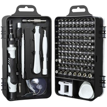 Promotion—115 in 1 Screwdrivers Repair Tool Kit, Driver Handle Magnetic Bits for Iphone Xs/Xs Max/Xr/X/8/7/6/Plus,Cellphone/Com