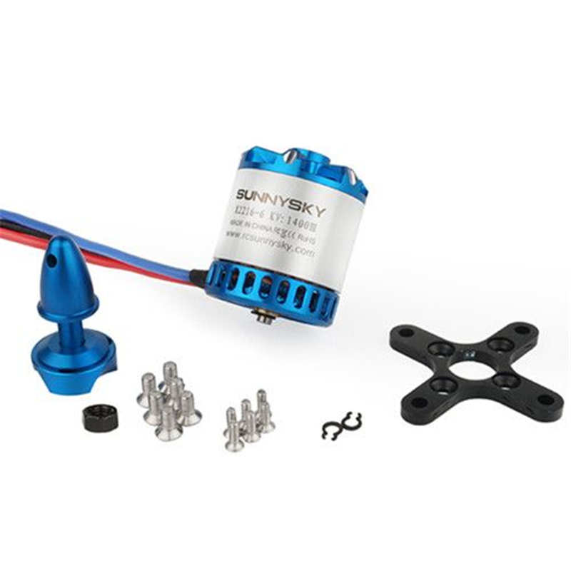 New <font><b>SUNNYSKY</b></font> <font><b>X2216</b></font>-7 <font><b>1250KV</b></font> Outrunner Brushless Motor V3 - Short Shaft for RC Fixed-wing Airplanes image