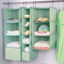 Home Clothes Storage Bag 3/4/5/6 Layer Wardrobe Hanging Oxford Cloth Washable Extended Organizador For Bras Socks