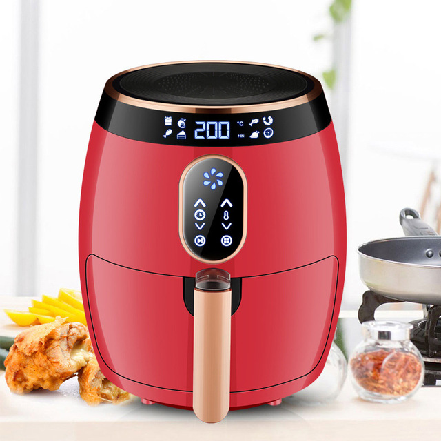 2.6L Air Fryer Multifunctional Electric Oven Digital Intelligent Automatic  Air Fryer Hot Air Oil Free Smokeless Kitchen Cooker 2