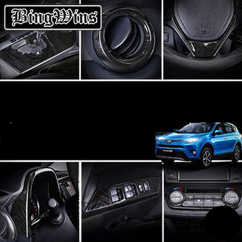 BeingWins Car styling For Toyota RAV4 2016-2019 Chrome Interior Door Handle Air Vent Switch Cover Trim Decoration