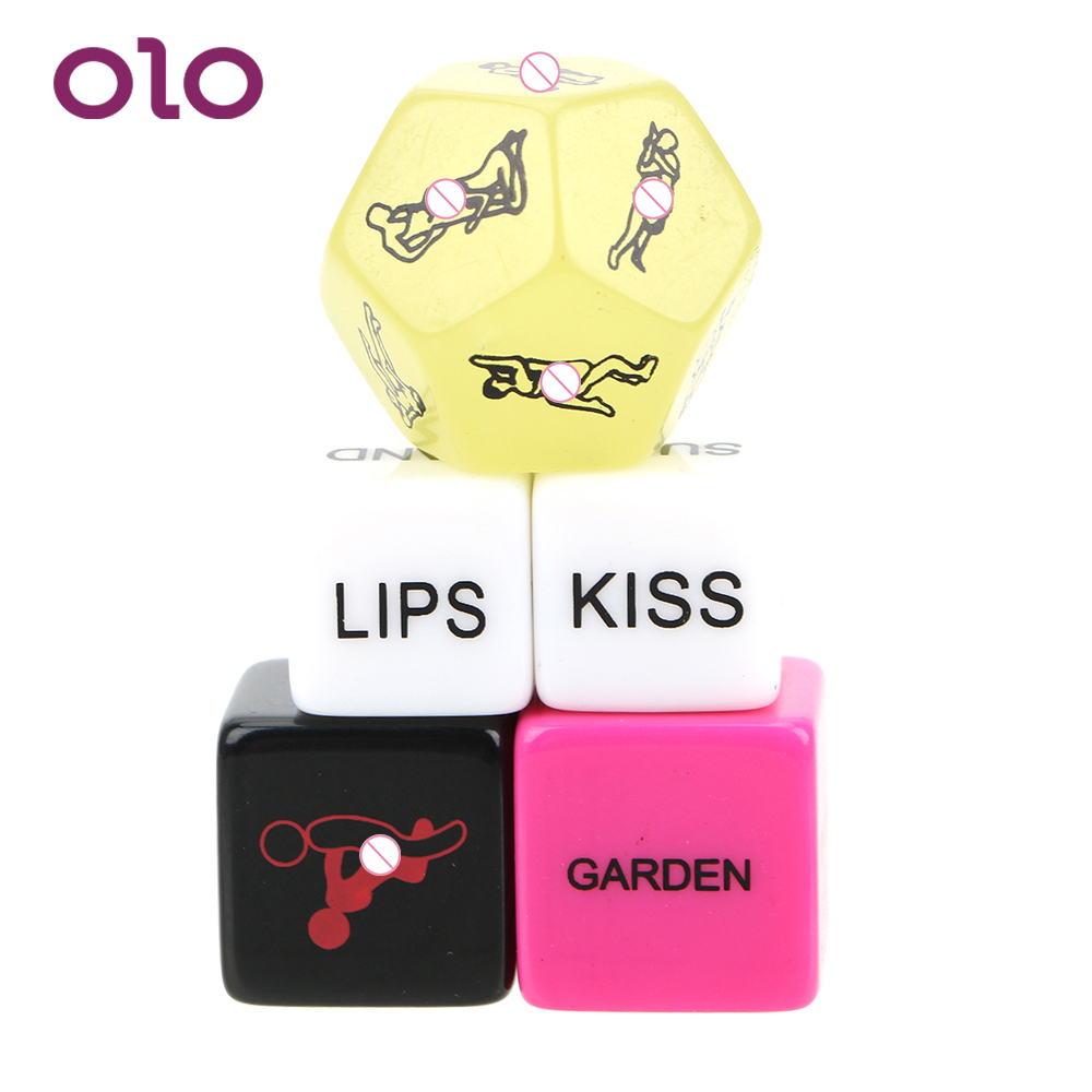 OLO Adult Games 5 Pcs Crap Sex Posture Fun Adult Erotic Love Erotic Toys Humour Gambling 12 Sides Sex Dice Sex Toys For Couple