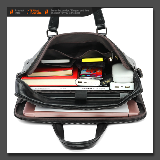 VICUNA POLO 15.6 pouces hommes sacs daffaires en cuir sacoche pour ordinateur portable mode OL valise multifonction bandoulière sac de messager