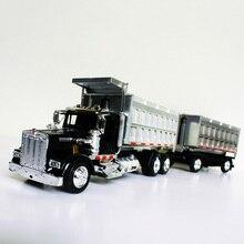 1/43 масштаб Kenworth самосвал Американский длинный головной литой Сплав Классический транспортер модель автомобиля танкер коллекционные подарки детская игрушка