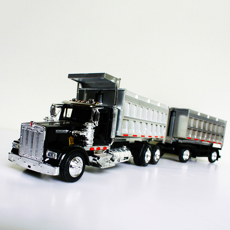 1/43 Scale Kenworth Dump Truck American Long Head Diecast Alloy Classic Transporter Model Car Tanker Collect Gifts Children Toy