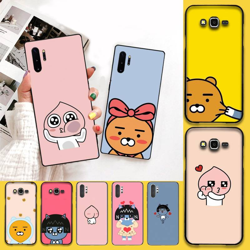 HPCHCJHM Korean cartoon <font><b>funny</b></font> cocoa friend Phone <font><b>Case</b></font> Cover Hull For <font><b>Samsung</b></font> <font><b>Note</b></font> 7 8 <font><b>9</b></font> 10 pro Galaxy J7 J8 J6 Plus 2018 Prime image