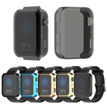 Screen Protector Cover For Mi Case Electroplated HD Shockproof bumper Smart Watch Accessories Shell For xiaomi watch Series 3 4
