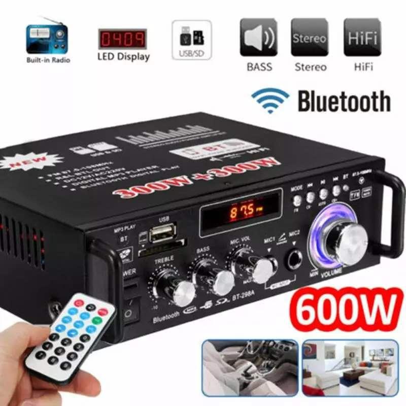 600 Вт домашние усилители аудио bluetooth усилитель сабвуфер поддержка USD SD HiFi радио с 2 микрофоном профессиональный