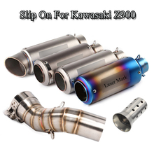 For Kawasaki Z900 Slip On 51MM Motorcycle Silencer Exhaust Muffler Tube ATV Middle Link Pipe Exhaust Tail Pipe With DB Killer