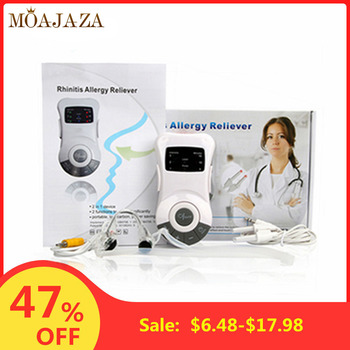цена на Rhinitis Sinusitis Allergy Cure Laser Electric Clip Nose Treatment Hay Fever Therapy Sinus Cleaner Low Frequency Nose Massager