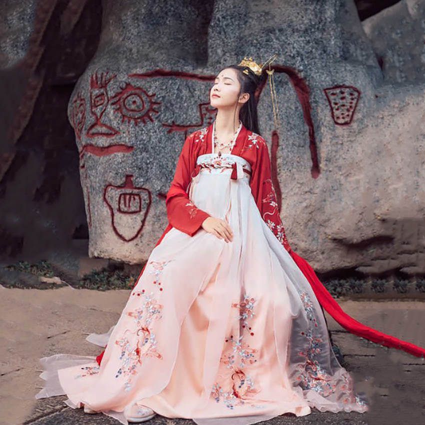 Hanfu Ancient Chinese Costume Dress Koi Traditionl Chinese Clothing for Women Fairy Design Style Daily Festival Outfits Dance
