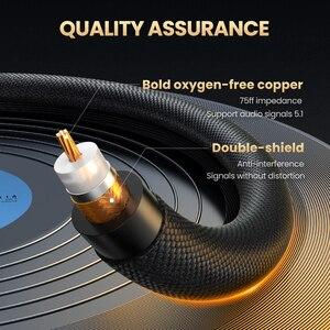 Image 5 - Ugreen HiFi 5,1 SPDIF RCA zu RCA Stecker auf Stecker Koaxialkabel Stereo Audio Kabel Nylon 3m 5m RCA Video Kabel für TV Verstärker Hause