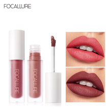 Focallure Matte Fluwelen Lip Stick Langdurige Make-Up Lip Tint Non-Sticky Cup Cosmetische Matte Vloeibare Lipstick(China)
