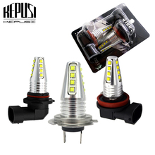 цена на 2pcs H11 H8 LED Car Lights LED Bulbs H7 9005 HB3 9006 HB4 H4 White Daytime Running Lights DRL Fog Light 6000K 12V Driving Lamp