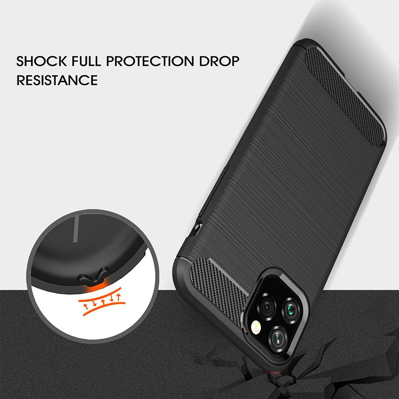 Image 4 - Silicone Soft Case for iPhone X XR XS 11 Pro max Case Carbon Fibre For iPhone 6 6s 7 8 plus Brushed Cover